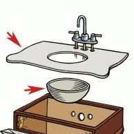 Install the Top and Sink