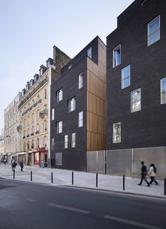 Image 2 of 24 from gallery of Student Residence in Paris / LAN Architecture. Courtesy of lan architecture Architecture Résidentielle, Contemporary Architecture, Sustainable Architecture, Modern Contemporary, Habitat Collectif, Student House, Architectural Section, Facade Design, Building