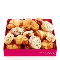 Make new friends at the office tomorrow with a tray of mini-viennoiseries…gorgeous little mix of our signature butter croissants, apple streusels, pains au chocolate, traditional brioches and chaussons! Available for pre-order from our catering menu online. Select trays available daily at The PATH Office Catering, Catering Menu, Butter Croissant, Menu Online, Pantry Essentials, Make New Friends, Croissants, Little Mix, Pretzel Bites