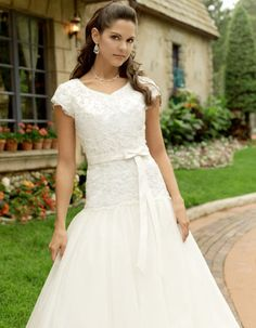 modest bridesmaid dress