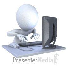 ID# 7364 - Hard Working On Computer Anim - PowerPoint Animation
