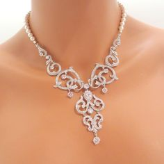 9d43d52f6c1 Items similar to Pearl Bridal necklace