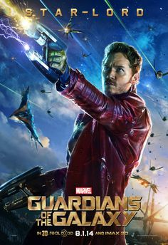 Star Lord (Chris Pratt) & Drax (Dave Batista) Character Posters For Marvels Guardians Of The Galaxy