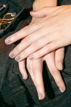 Two Tone/3.1 Phillip Lim/ Nail Trends Spring 2013 - Best Spring Nail Polish Colors 2013 - Harper's BAZAAR