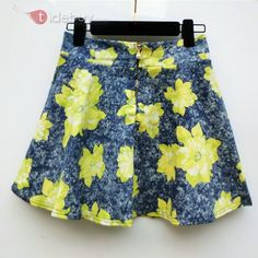 花はウエストゴムスカート