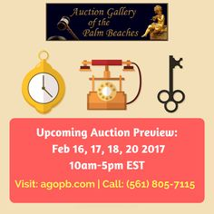 Best auctioneer for rare Jewelry & Collectibles  Looking for best Jewelry West Palm Beach auctioneers? Welcome ot Auction Gallery of the palm peaches. We  provide best Online portal for Fine Art & Collectibles. For more info Call: (561) 05-7115 or Visit: http://agopb.com