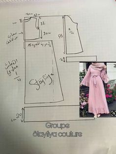 How to make your simple abaya tunic dress Dress Sewing Patterns, Blouse Patterns, Sewing Patterns Free, Clothing Patterns, Sewing Pants, Sewing Clothes, Abaya Pattern, Stitching Dresses, Couture Sewing
