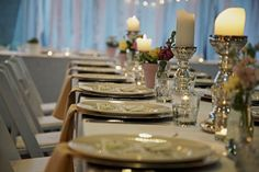 Wedding receptions and ceremonies are delightful moments at the Tailrace Centre. Palm Springs Style, Spring Theme, Table Settings, Place Settings, Table Arrangements, Desk Layout
