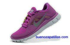 purchase cheap 5b062 efda3 Mujer Nike Free Run 3 Zapatillas (color   empeine y en el interior - rosa   logotipo - gris   sole - blanco)