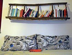 libreria con recupero di una scala a pioli