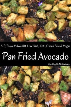 AIP Paleo Fried Avocado - The Health Nut Mama AIP Paleo Pan Fried Avocado is so easy & is the perfect side dish to compliment any meal. I love it as a side for breakfast & a great way to get your healthy fats! #aip #paleo #autoimmuneprotocol #avocado #friedavocado #glutenfree #lowcarb #keto #whole30 #vegan #vegetarian #breakfast #side #thehealthnutmama www.thehealthnutmama.com<br>