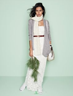 J Crew winter wedding: I need to wear more belts Stylish Outfits, Cute Outfits, Style Me, Your Style, All Things Beauty, Winter White, My Wardrobe, Wedding Bells, Beautiful Dresses