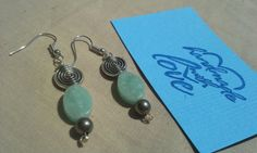 Check out this item in my Etsy shop https://www.etsy.com/listing/244460414/green-amazonite-stone-and-silver