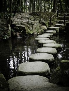 stona path in zen temple Stock Photo
