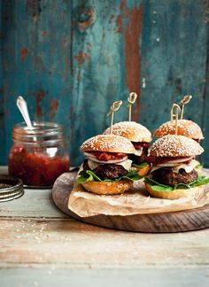 Sliders!  These would be great with a wholegrain bun.