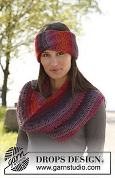 Ravelry: 140-16 Bramble Jam - Head band and moebius neck warmer in 2 strands Alpaca pattern by DROPS design