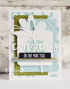 Sunshine sayings and Sunshine Wishes Thinlits #stampinup