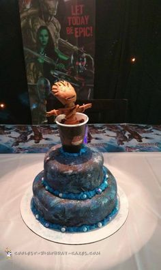 Coolest 8th Birthday Baby Groot Cake...