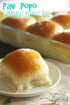 Pani popo is one of my favorite Pacific-Island dishes from my bakery days in Hawaii. A Samoan sweet roll baked in a creamy coconut sauce-- so simple yet so delicious!
