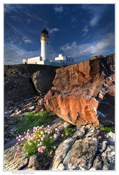Rua Reidh Lighthouse, is situated on a remote peninsula on the West Coast of Sutherland at the entrance to Loch Ewe in the Northwest Scottish Highlands