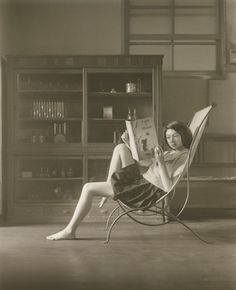"""I really like the works of Balthus. Often I see something and say """"That reminds me of a Balthus."""" Here is """"A Study of Katia Reading,"""" A Photographic Portrayal of the Paintings of Balthus by Hisaji Hara"""