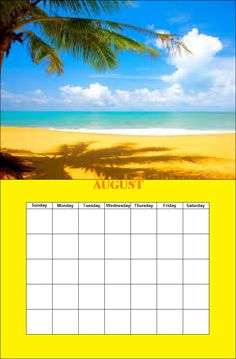 August Season Calendar, Monday Tuesday Wednesday, Paint Shop, Seasons, Outdoor, Outdoors, Seasons Of The Year, Outdoor Games, Outdoor Living