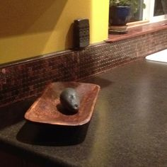 Penny backsplash to go with our penny tiled floor Penny Tile Floors, Penny Backsplash, Kitchen Backsplash, Countertop, Ceramic Tile Floor Bathroom, Home Projects, Craft Projects, Steel Shelving, Coin Art
