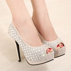 14CM high with single shoes waterproof fine with the fish head high heels