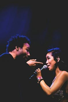 Childish Gambino & Jhene Aiko; I love the connection they have. on a whole other level