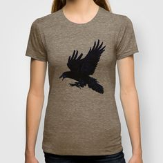 The Rook (Cobalt) T-shirt by Robert Lee - $18.00 #art #rook #raven #crow #iphone #ipod #ipad #galaxy #s4 #s5 #s6 #case #cover #skin #mug #bag #pillow #stationery #apple #mac #laptop #sweat #shirt #tank #top #clothing #clothes #hoody #kids #children #boys #girls #men #women #ladies #lines #love  #light #home #office #style #fashion #accessory #for #her #him #gift #want #need #love #print #canvas #framed #Robert #S. #Lee