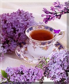 Good Morning Tea, Afternoon Tea, Gif Café, Tea Gif, Coffee Gif, Coffee Pictures, Tea Cup Set, All Things Purple, Morning Greeting