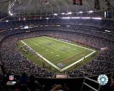 Inside of the Georgia Dome in Atlanta, Georgia