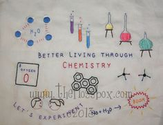chemistry embroidery