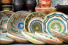 Horezu ceramics Romanian pottery www. Visit Romania, Romania Travel, Beautiful Places To Visit, Wonderful Places, Carpathian Mountains, Bucharest, Ceramic Painting, Eastern Europe, Traditional Art