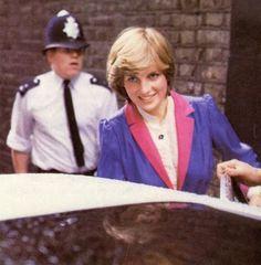 Young and beautiful Princess Diana