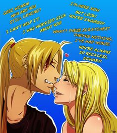 Edward x Winry by FeatherGuitar on deviantART