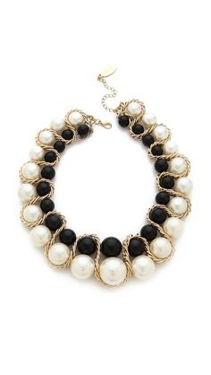 Bib necklace: very Chanel, without the Chanel price tag.