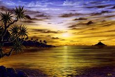 ocean sunset reflection - Google Search