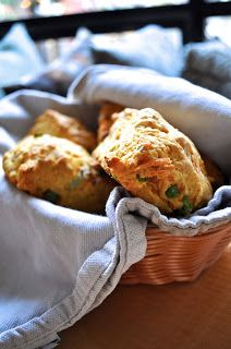 Vegan Cheddar and Scallion Sweet Potato Scones - fluffy and delicious, you won't even be able to tell they are vegan.
