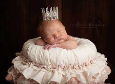 Elizabeth Mini Rhinestone Crown, Newborn Photography prop, Toddler/Child Flower Girl Princess Tiara