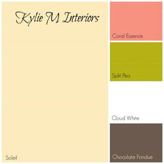 yellow for girls or baby room with coral green and brown paint palette benjamin moore colours