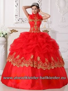 Exklusives Rotes Sissi Kleid Weites Abendkleid Ballkleid Wolumen Brautkleid
