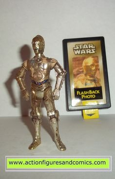 star wars action figures C-3PO flashback tattooine weather worn 1998 hasbro toys action figures