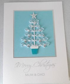 Quilled Christmas card for mum and dad