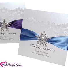Printable Snowflake Wedding Invitations Template. Print and create ...
