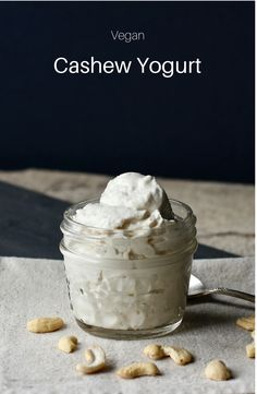 Vegan Cashew Yogurt | Dairy-Free | Nondairy | Gluten-Free