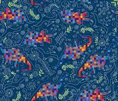 Reinventing the era fabric by liluna on Spoonflower - custom fabric