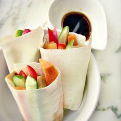 Vegetables and tofu springrolls by dietetycznefanaberie