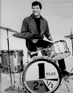ELVIS PLAYING THE DRUMS SOMETIME IN 1966