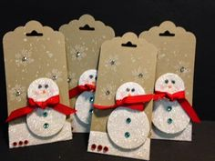 Gorgeous Grunge, Endless Wishes. Snowman Gift Tags, Stampin' Up!, Rubber Stamping, Handmade